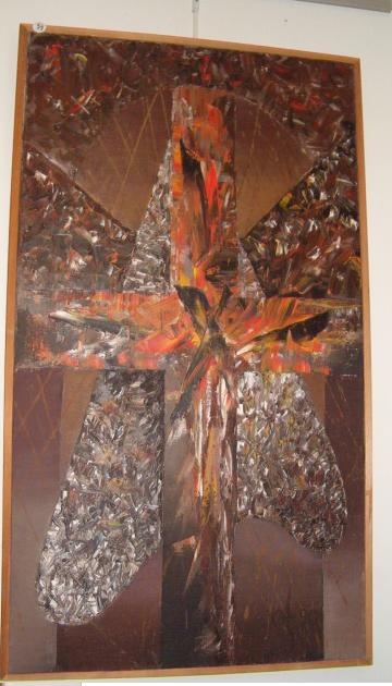 1950's Large Russian Cross Abstract by Olga Ourianova