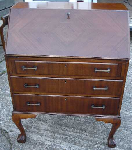 Antique Furniture 9342w High End Mahogany Bureau Des