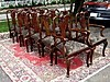 High End SETof  TWELVE 10+2 Queen Anne chairs