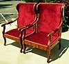 FINEST Pair Biedermeier style wing chairs.