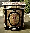Qualty black marble top Louis XIV style Boulle commode