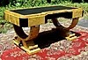 Presidential 74 Inches Satin Maple Art Deco style Desk