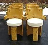 Set of six quality burl maple art deco style chairs