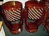 FABULOUS! marquetry Pair  Art Deco tables commodes