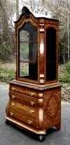 ARISTOCRATIC Dutch LARGE Vitrine Bookcase cabinet
