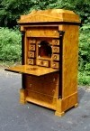 Sumptuous Large Vienna Biedermeier style maple Desk.