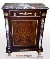 credenza Louis XV style marble top and columns commode