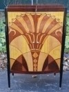 extraordinary Art Deco inspired book case bar cabinet