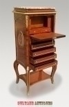Splendid Napoleon style secretaire drop front desk bar