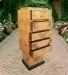French Elm Art Deco style stand chest of drawers