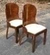 Pair Classy Art Deco style Brazilian rosewood chairs