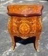 Adorable marquetry ornate French louis side commode