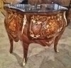 Superb Louis XV style marble top marquetry Commode