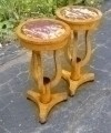Pair of marble top Art Deco style stands side tables