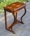 Superbly shaped in Biedermeier style rosewood console