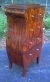 Magnificent forms Art Deco style Dark walnut chiffonier