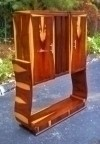 Quality Brazilian rosewood Art Deco style Bar