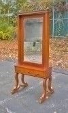 LOVELY light Walnut Cheval mirror Biedermeier style