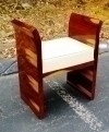 BEST Art Deco inspired Brazilian Rosewood vanity stool