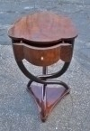 SENSATIONAL walnut Thonet art Deco style  side table