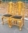 Gorgeous Quality Pair of Queen Anne Elmwood Chairs