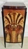 Art Deco style stunning inlaid cabinet bar