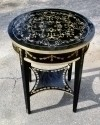 Black golden Empire Occasional Cocktail side table