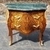 Elegant Commode Louis XV style Greek green marble top