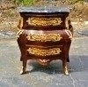 Gorgeous forms walnut Louis Style Commode black Marble