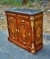 SPLENDID LOUIS XV style Black Marble marquetry Credenza