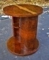 Art Deco Style side Cocktail table gorgeous burl walnut