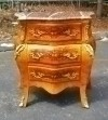 Superb form Louis Commode Inlaid Carrara Marble Chest