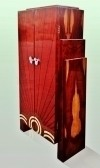 Large fantastic cabinet bookcase bar Art deco style