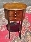 Elegant quality Louis XV burl side table oval top