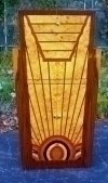 SPECIAL BAR cabinet inlaid in ART DECO inspired style