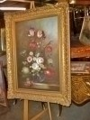 LARGE FINE QUALITY FLOWERS ORIGINAL OIL PAINTING -