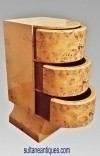 In 10 weeks burl Maple Deco style side tables commode