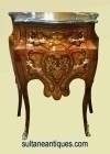 Here in 6 weeks Louis XV style marquetry side commode