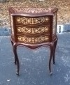 Dark walnut side table bed commode Directoire style