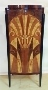 Finest Art Deco style at its best cabinet bar bookcase