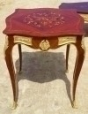 in 6 weeks Louis XV style bronze and inlaid side table