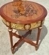 in 6 weeks marquetry ornate Louis XV style side table