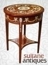 Quality Dark walnut marquetry side center table