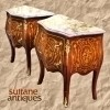 SUPERB PAIR Louis XV style side table commodes