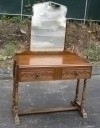 FINEST!! 1920s English blond Oak vanity table