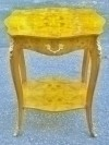 Fine Brass ornate Burl Maple Louis XV style SIDE TABLE