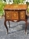 Great marquetry Louis XV style side Commode with slide