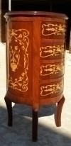 In 2 Weeks Louis XV style side table marquetry commode