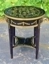 Elegant LARGE Victorian round occasional side table