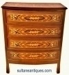 Super Elegant Dutch Inlaid COMMODE Dresser Chest